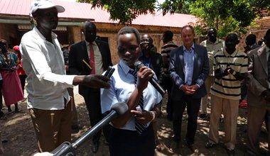 unmiss south sudan rumbek quick impact project girls school dormitory david shearer peace reconciliation intercommunal violence
