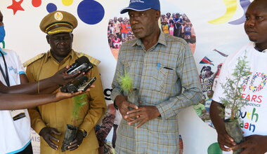 UNMISS yei south sudan tree planting peace peaceful coexistence independence peacekeeping united nations