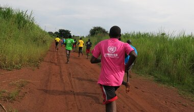unmiss peace day marathon morobo central equatoria south sudan protection of civilians sustainable peace peacekeepers united nations peacekeeping