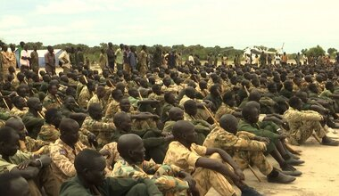 Defense Minister declares unified troops at Alel training centre ready to graduate and deploy in Upper Nile unmiss south sudan peace agreement