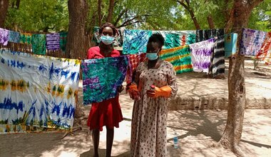 unmiss south sudan lakes state rumbek internally displaced persons women vocational training income generating skills tie-dyeing