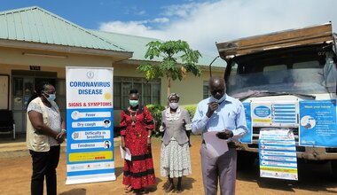 unmiss south sudan covid-19 response campaign truck local languages eastern equatoria