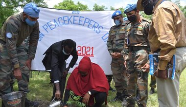 unmiss south sudan malakal tree planting drama peacekeepers day veterinary camp