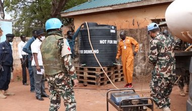 unmiss south sudan rumbek covid-19 preventative measures water tanks hand washing facilities isolation centres social distancing