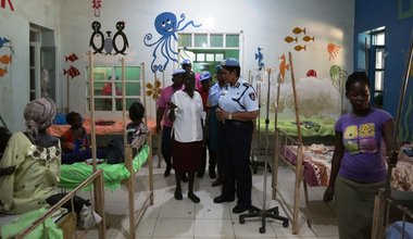unmiss juba women network unpol police male female patients children gifts protection of civilians