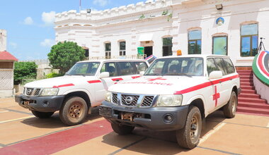 unmiss south sudan wau donation ambulance response vehicle covid-19 isolation centre continued support