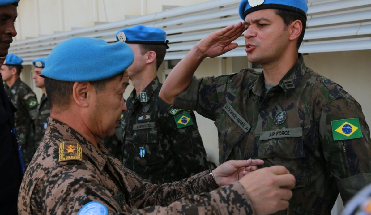 Brazilian Staff Officers mark Brazil's Independence with UN Medal Parade Ceremony