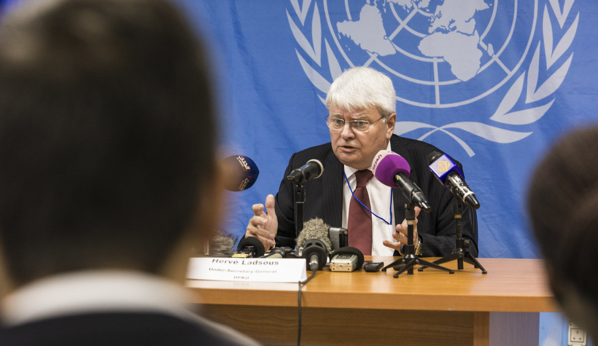 Near verbatim transcript UN UNDER-SECRETARY-GENERAL HERVE LADSOUS HEAD OF THE DEPARTMENT OF PEACE KEEPING OPERATIONS