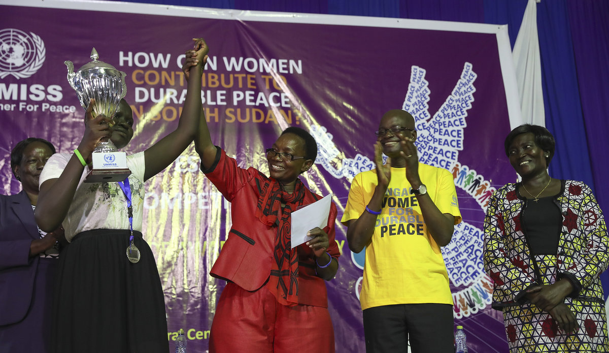 UNMISS essay contest winners: Women should participate in all decision-making for peace