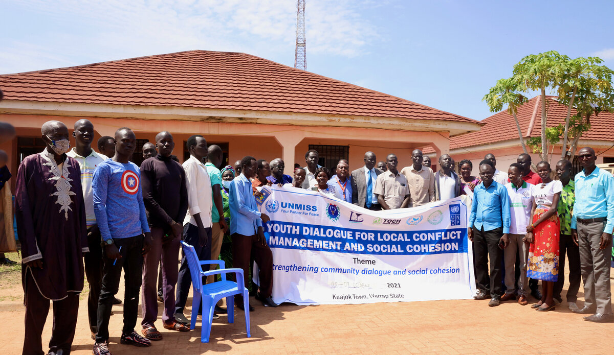 youth peace security peaceful coexistence peace south sudan warrap kuajok unmiss peacekeeping united nations