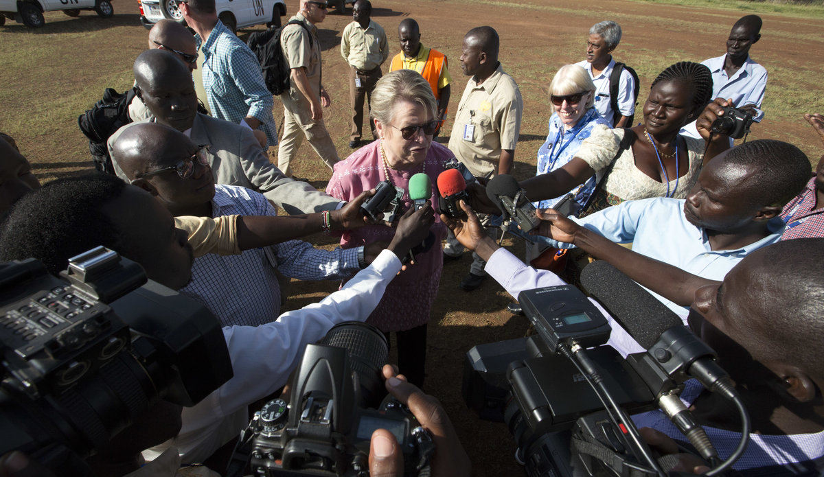 'Cling to every little sign of hope' – outgoing head of mission in South Sudan