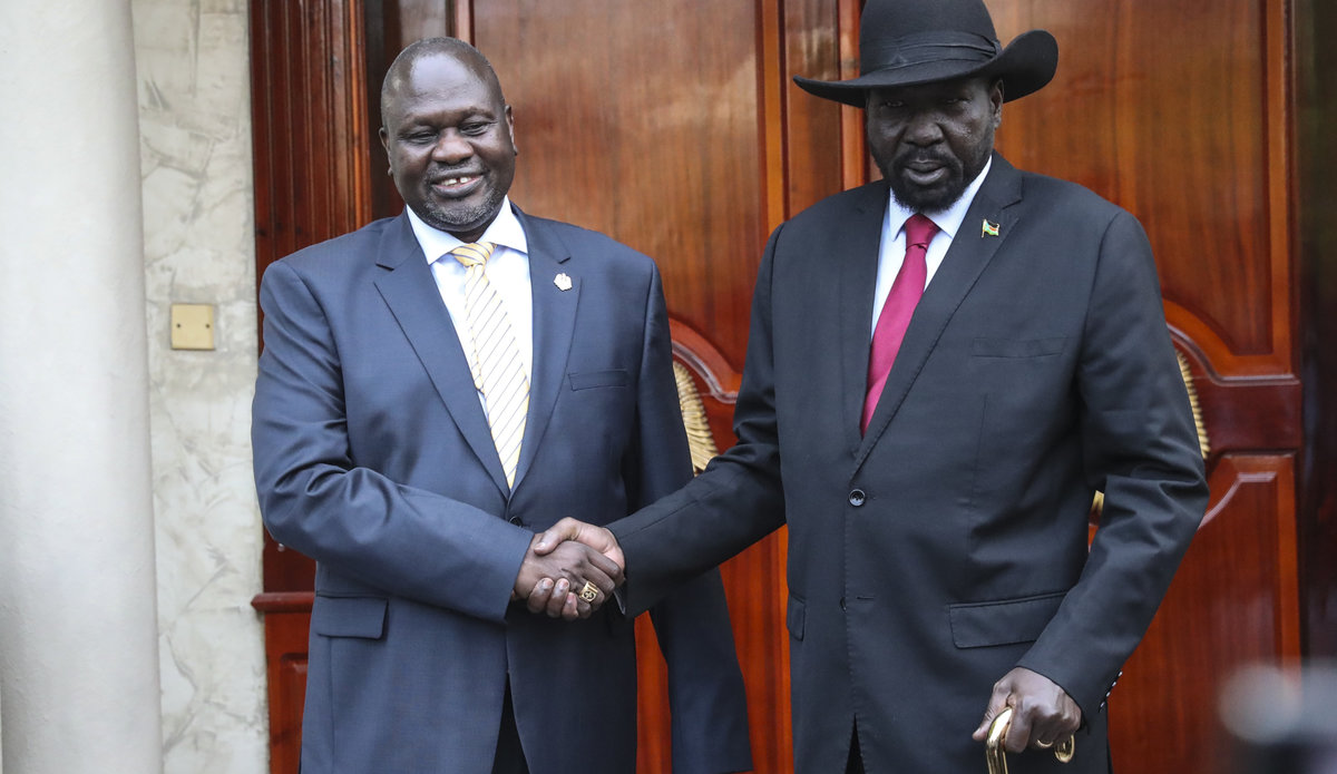 face-to-face meeting salva kiir riek machar unmiss david shearer revitalized peace agreement