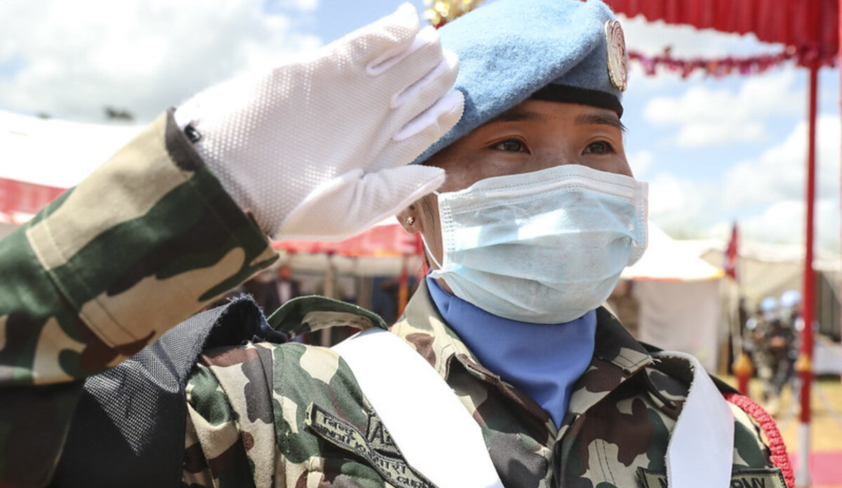 UNMISS protection of civilians medal parades displaced civilians peacekeepers South Sudan peacekeeping Nepal Troop Contributing Countries