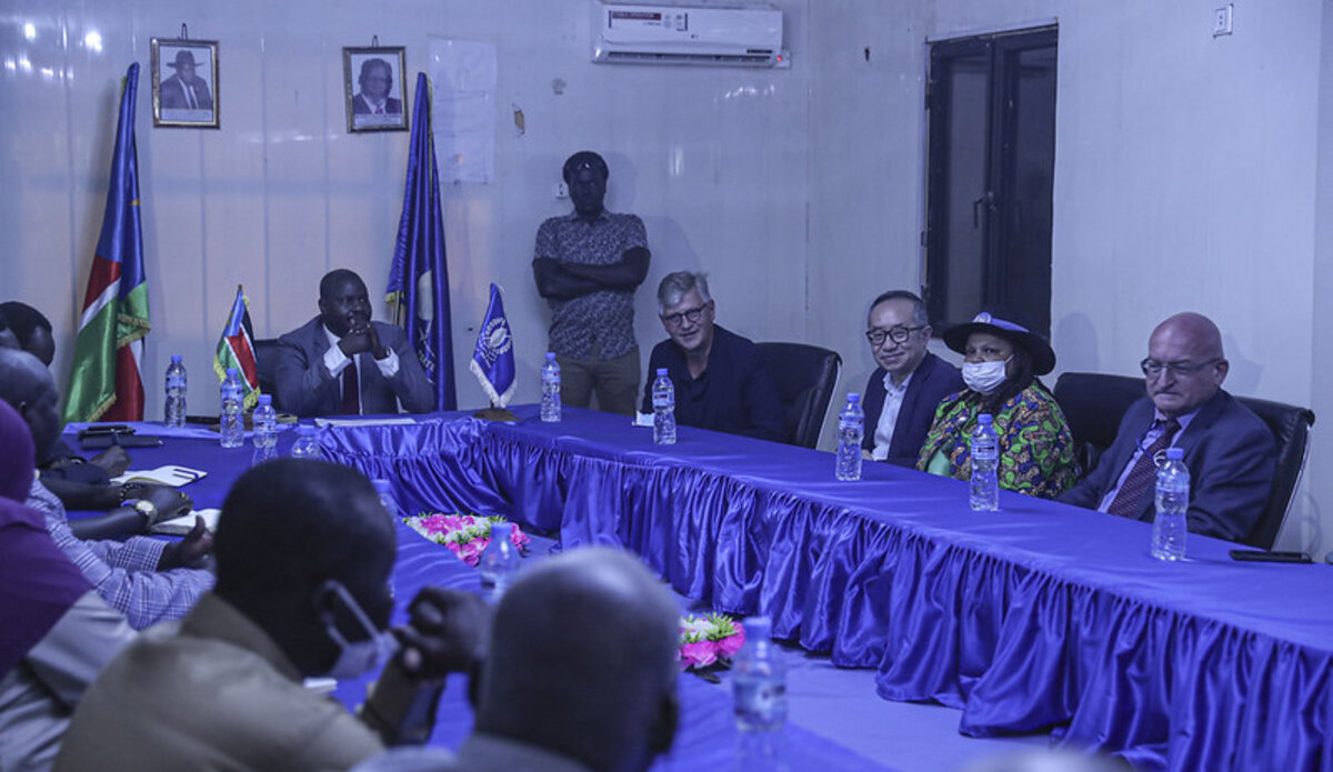 UNMISS protection of civilians Jean-Pierre Lacroix Under-Secretary-General peace security displaced people peacekeeping United Nations South Sudan Malakal flooding