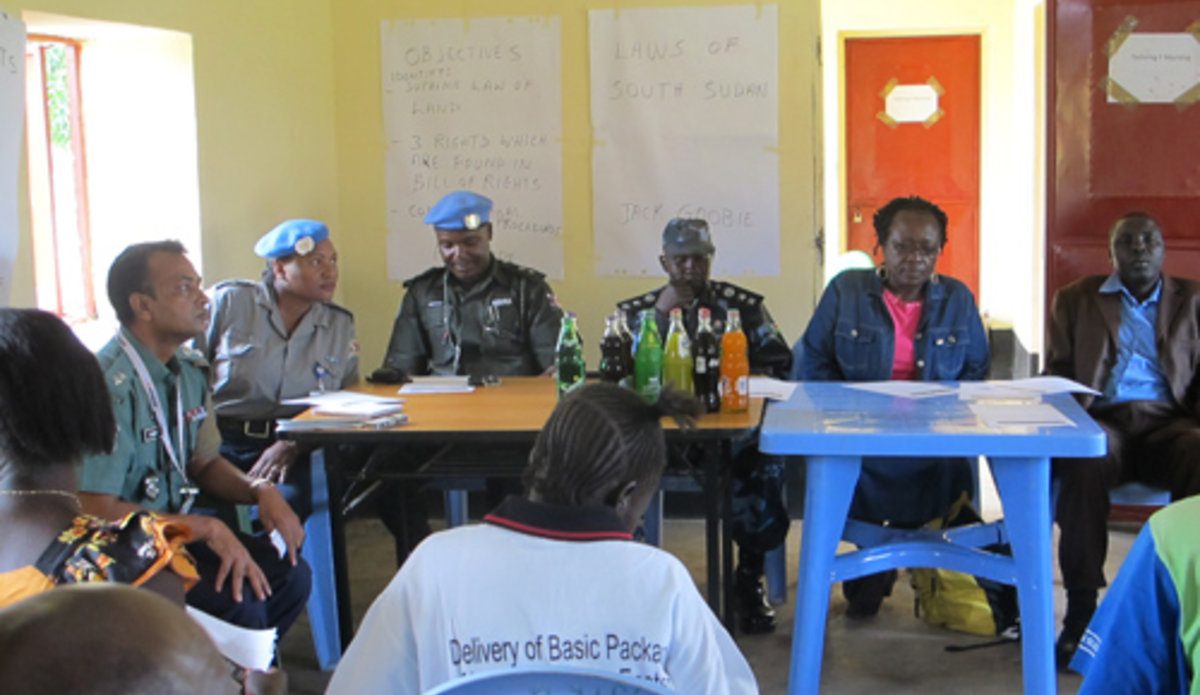 SSPS trained in criminal investigation | UNMISS