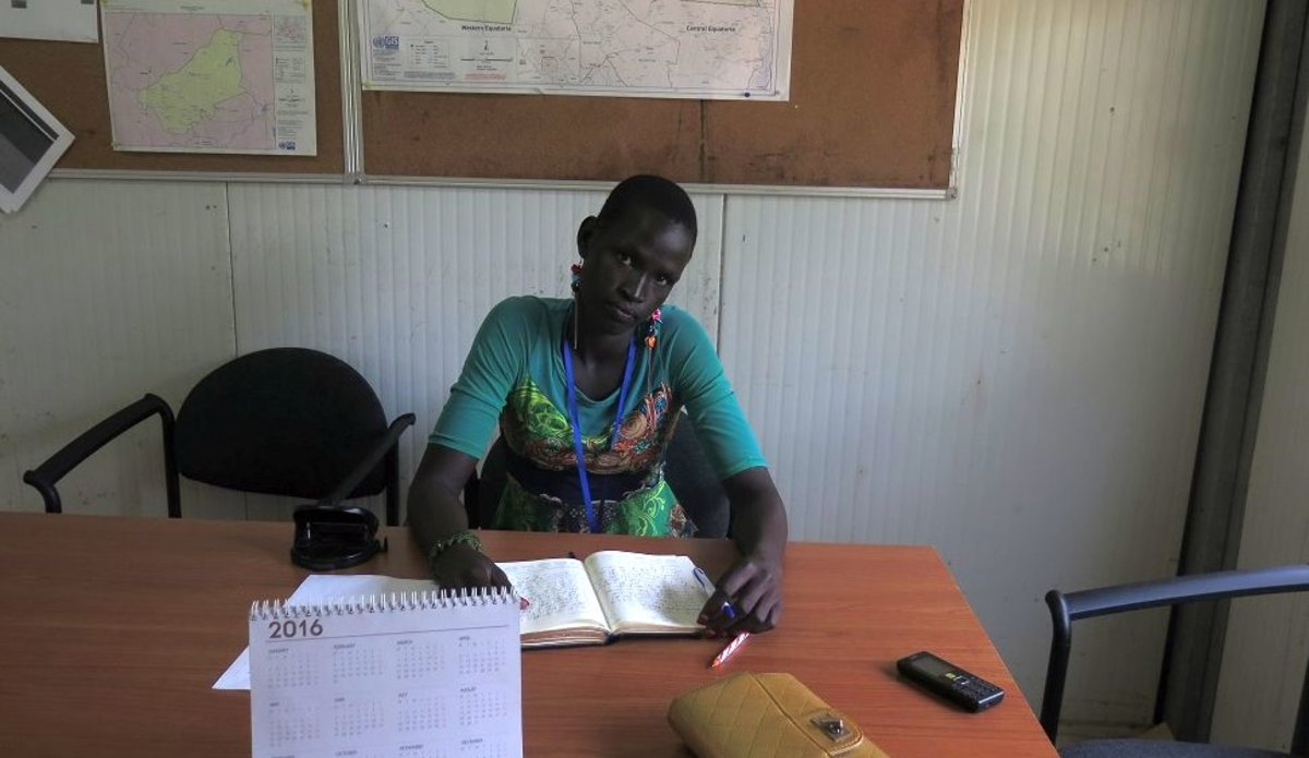 A 20 year old school girl joined peace activism in Rumbek