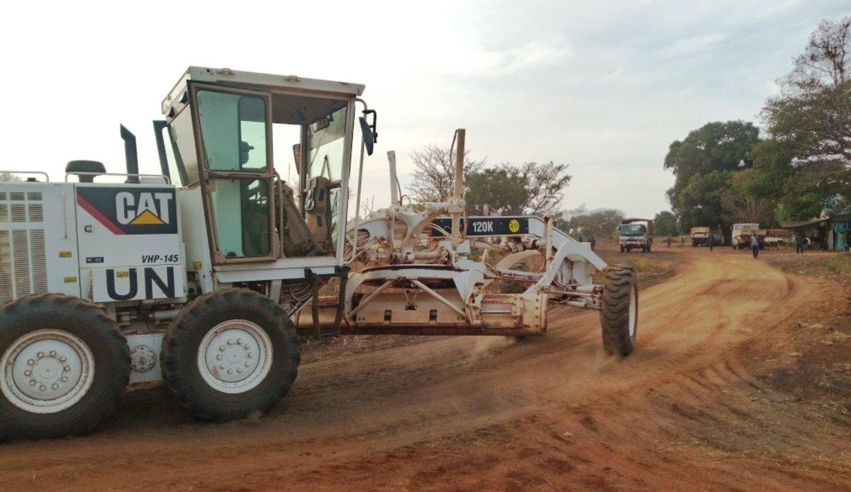unmiss south sudan road work peacekeeping yambio kotobi juba
