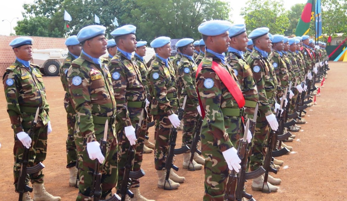 unmiss south sudan bangladesh peacekeepers un medals parade wau kuajok