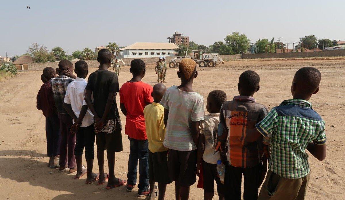South Sudan Juba 2018 Bangladeshi peacekeepers engineering contribution National Unity Day