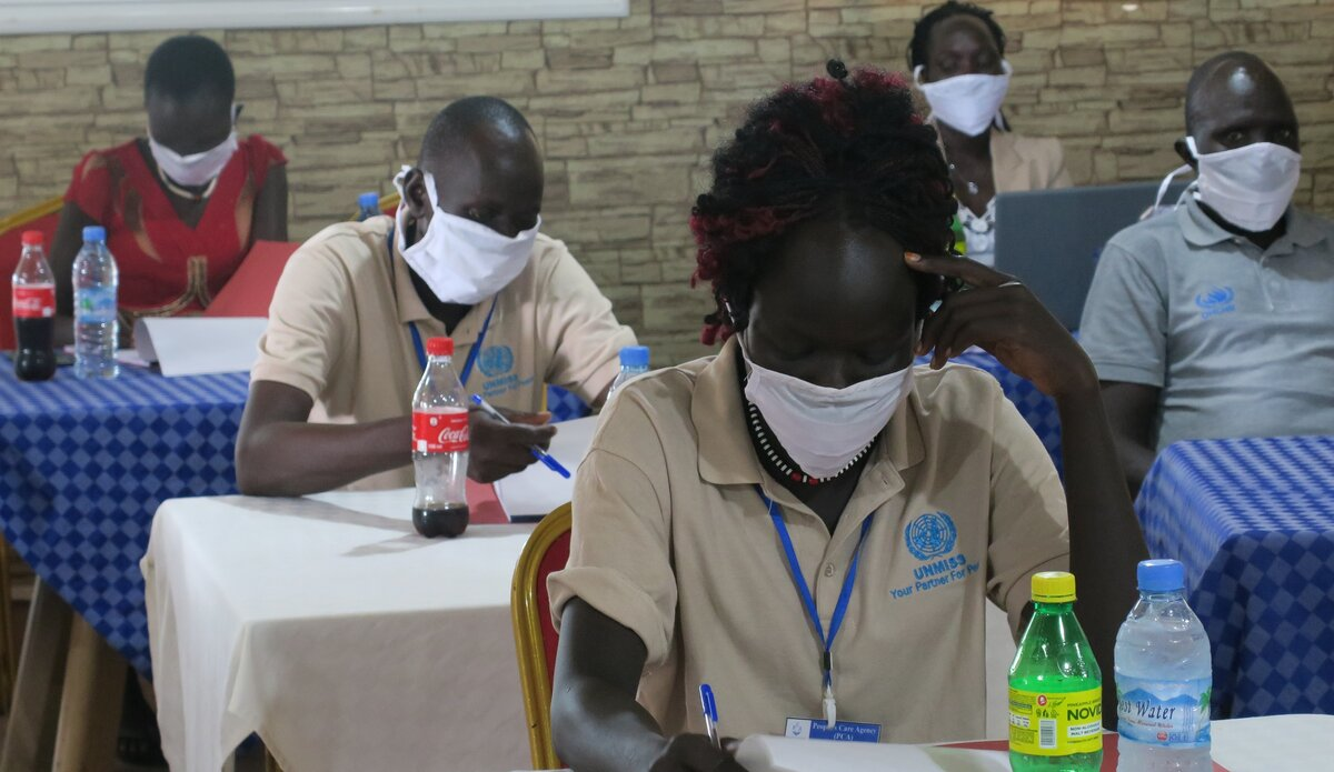 UNMISS in Bor turns activists into trainers on COVID-19 awareness