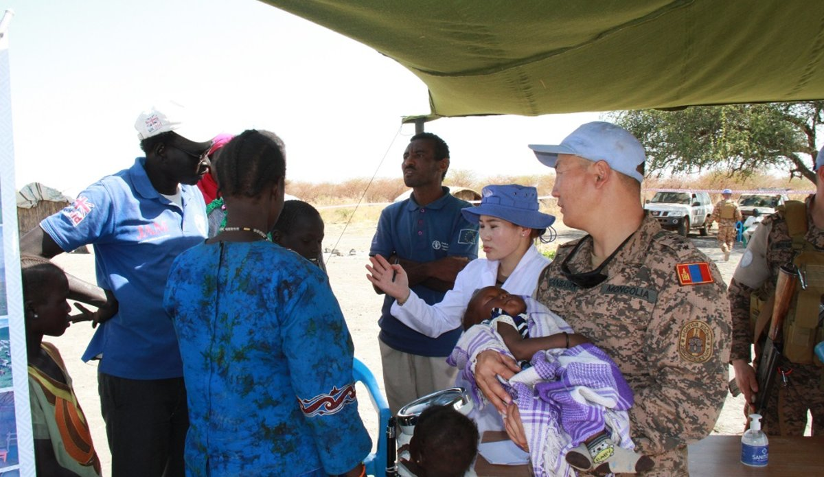 unmiss south sudan unity mongolia peacekeepers free medical care protection of civilians
