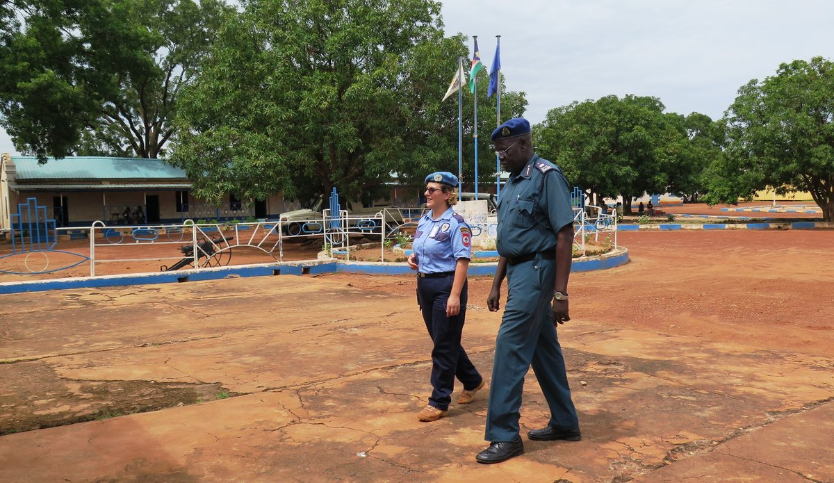Cooperation between UN and local police in Wau reducing crime in protection sites