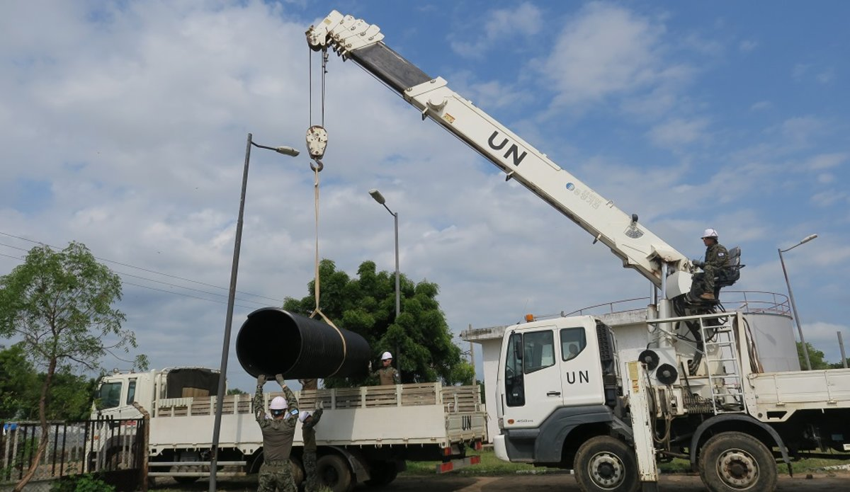 unmiss south sudan bor culverts drainage system recovery mechanism development