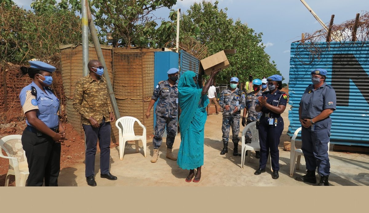 unmiss south sudan protection of civilians UNPOL humanitarian assistance Wau peacekeepers peacekeeping COVID-19 facemasks Coronavirus