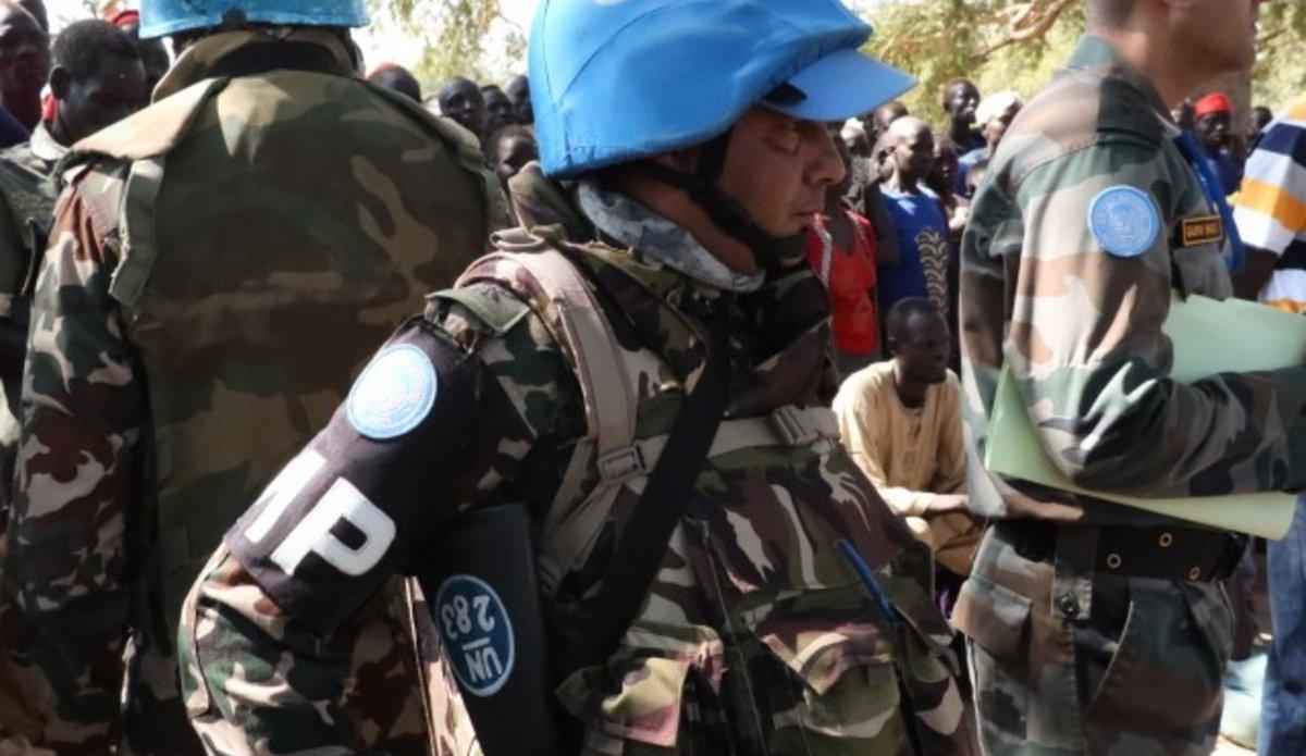Nepalese UNMISS peacekeepers in Maper