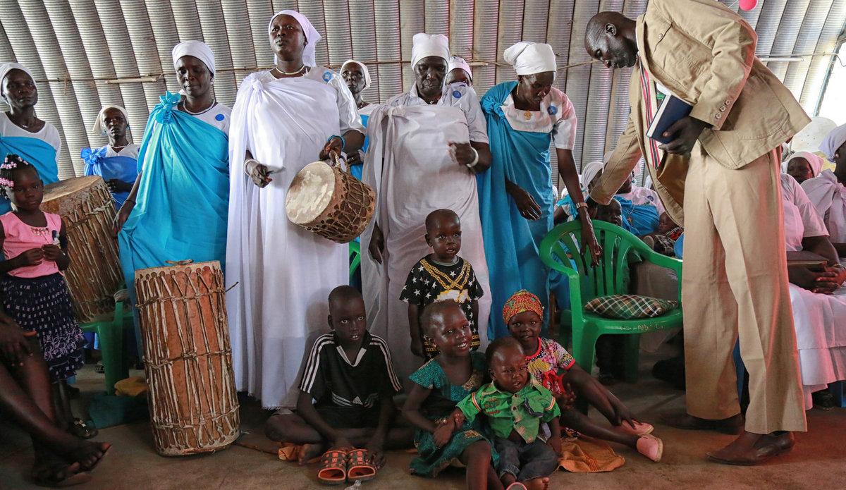 UNMISS Juba IDPs Christmas Day Eve PoC church mass service South Sudan