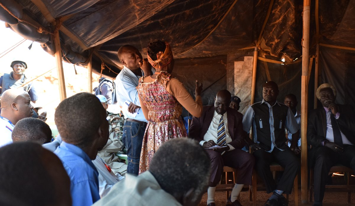 IDP's voicing their concerns in Wau