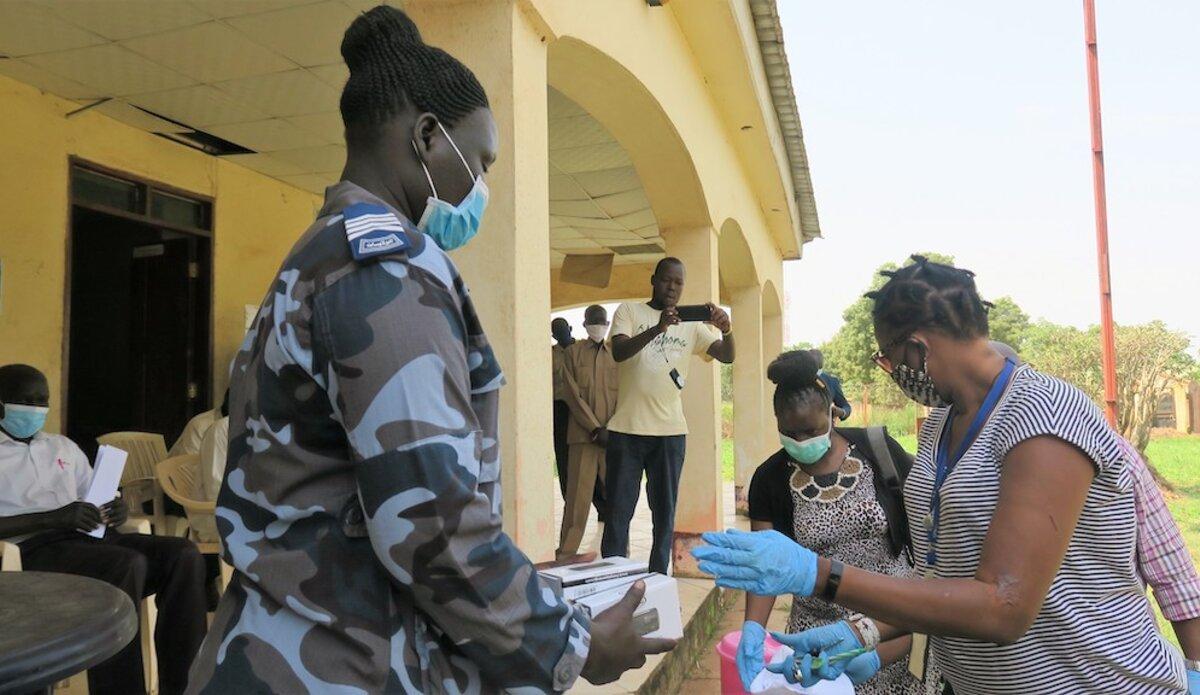 unmiss south sudan eastern equatoria covid-19 solar-powered radios misinformation