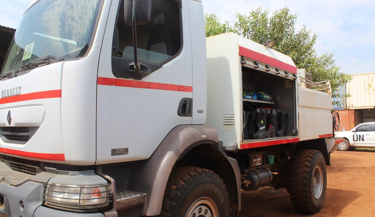 unmiss south sudan srsg david shearer fire truck a4p juba