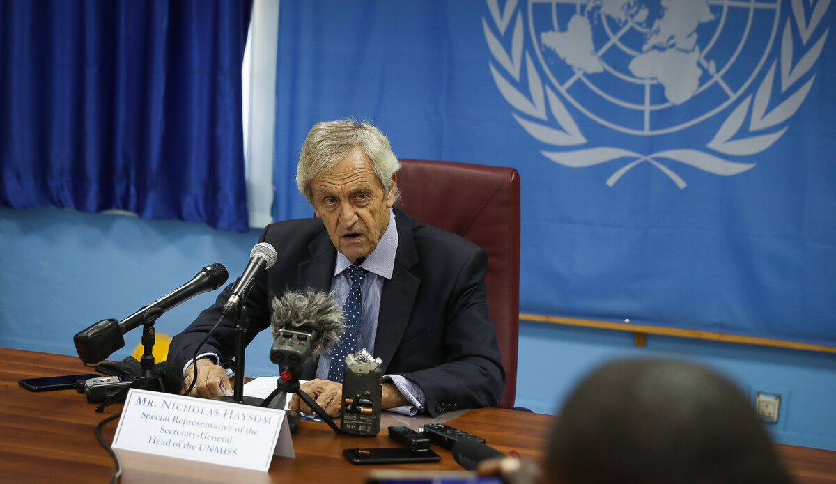 UNMISS Nicholas Haysom Security Council South Sudan Juba Protection of Civilians Mandate IDPs displaced press conference