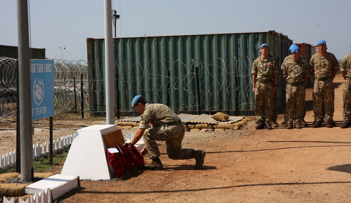 United Kingdom Engineers Observe Remembrance Day in South Sudan