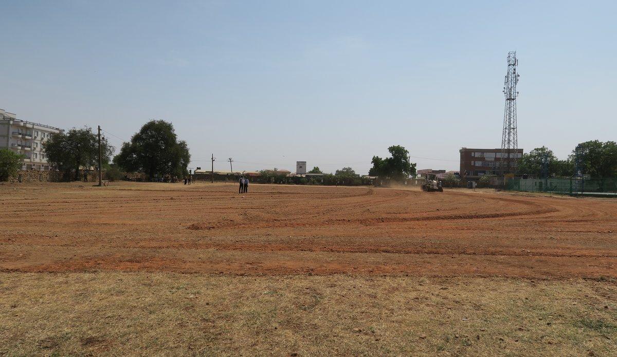 The University of Juba's football pitch