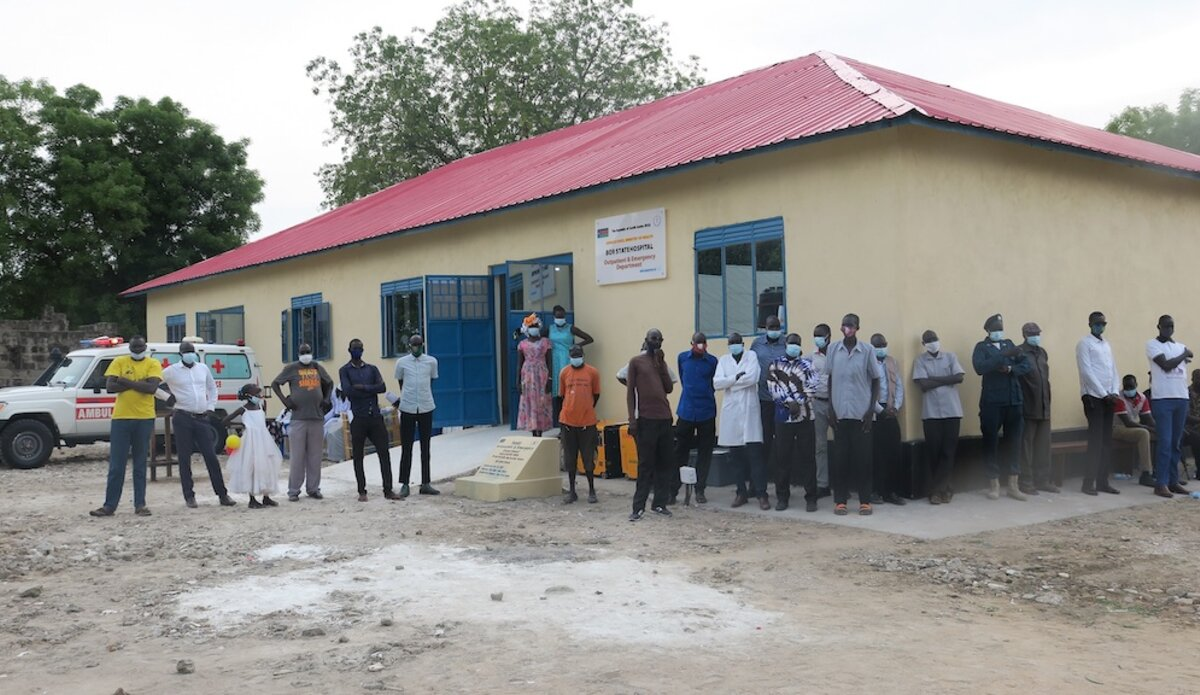 unmiss south sudan bor jonglei state hospital south korea handover healthcare