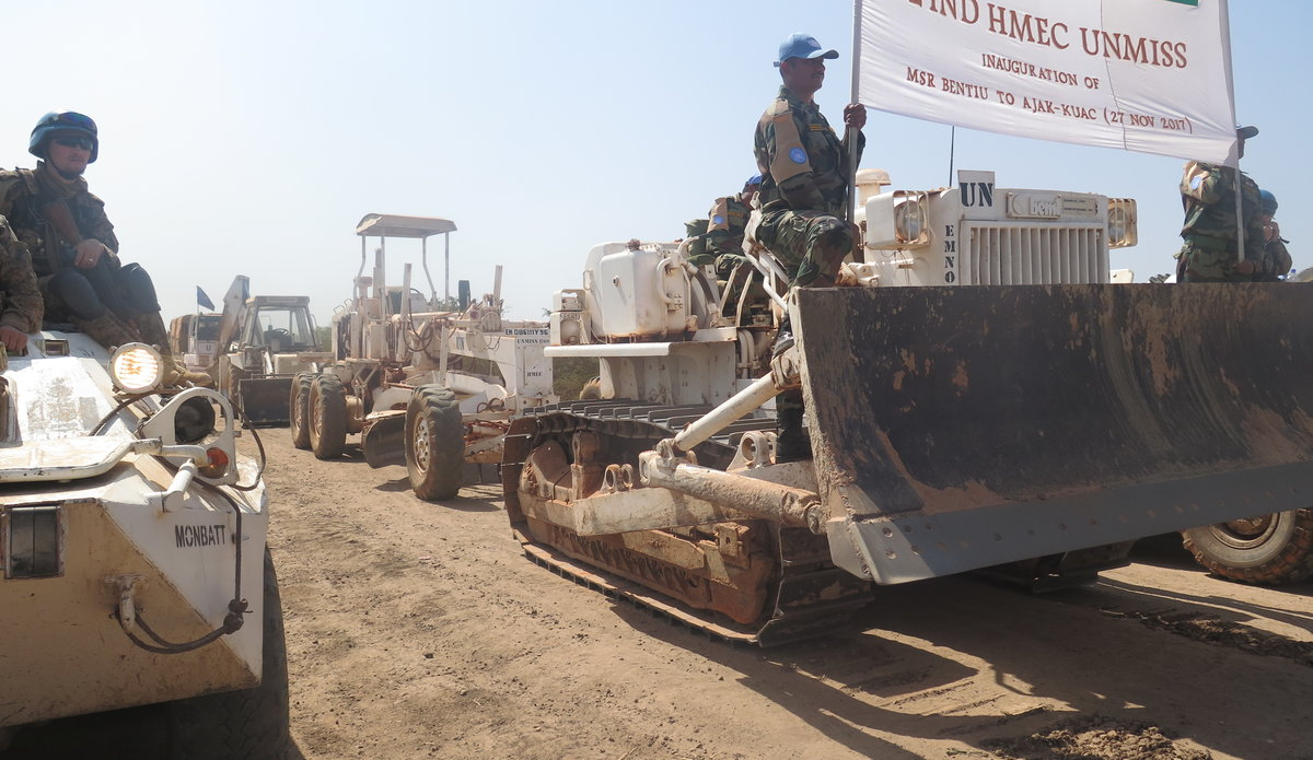 Indian engineers begin road rehabilitation in Unity region of South Sudan