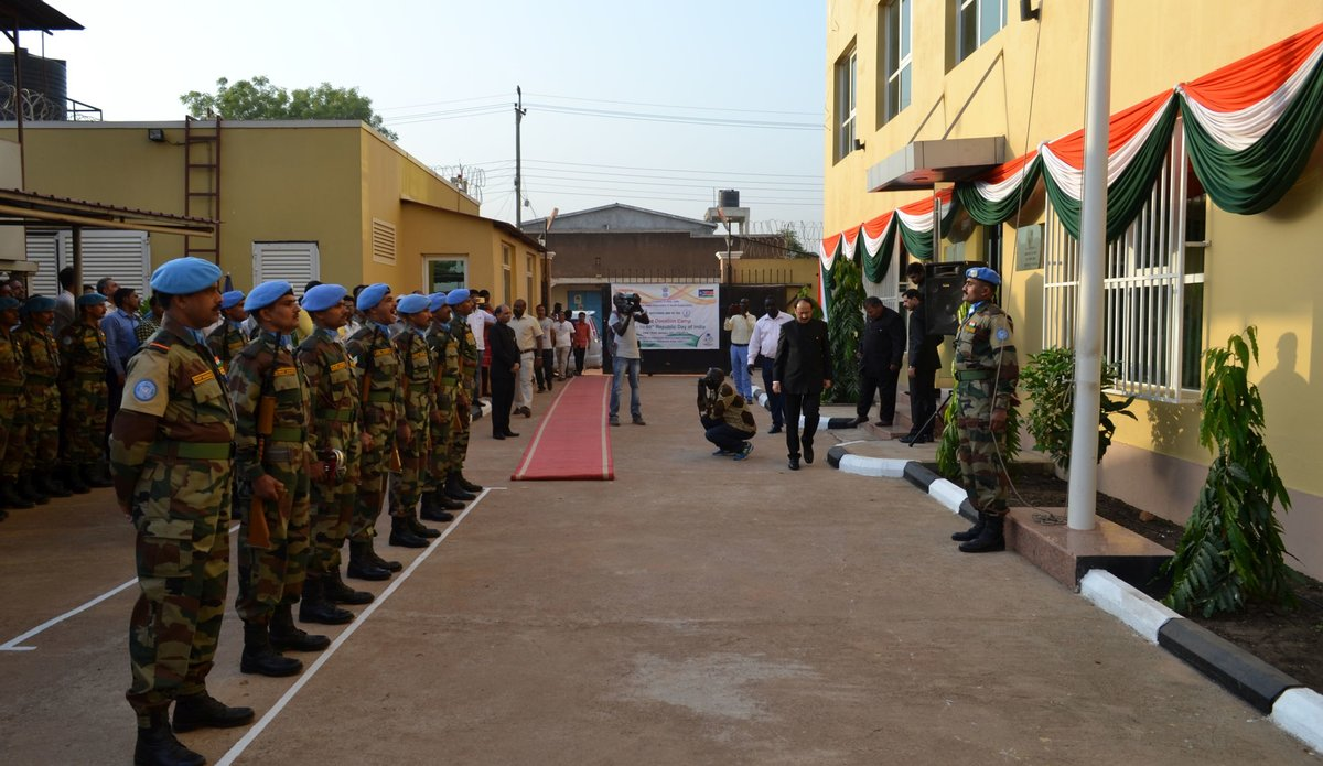 Indian peacekeepers serving in South Sudan celebrate 69th Republic Day