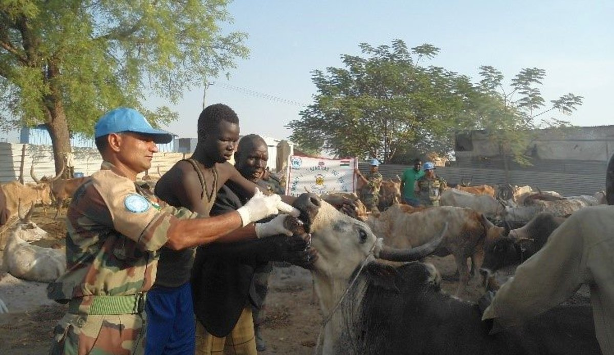 Indian Veterinarians take 'heal and educate' campaign to Malakal
