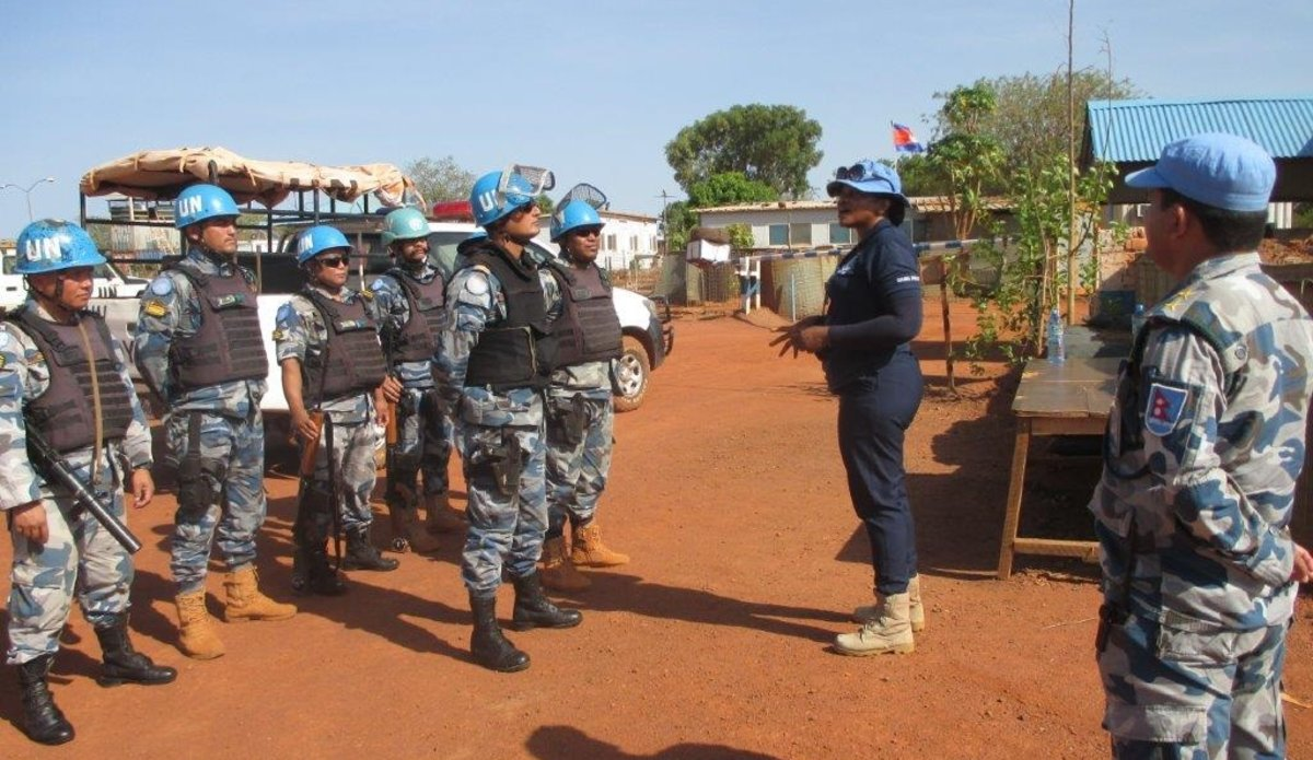 unmiss south sudan unpol ghana wau protection of civilians peacekeeping un medal role model vera ayensu