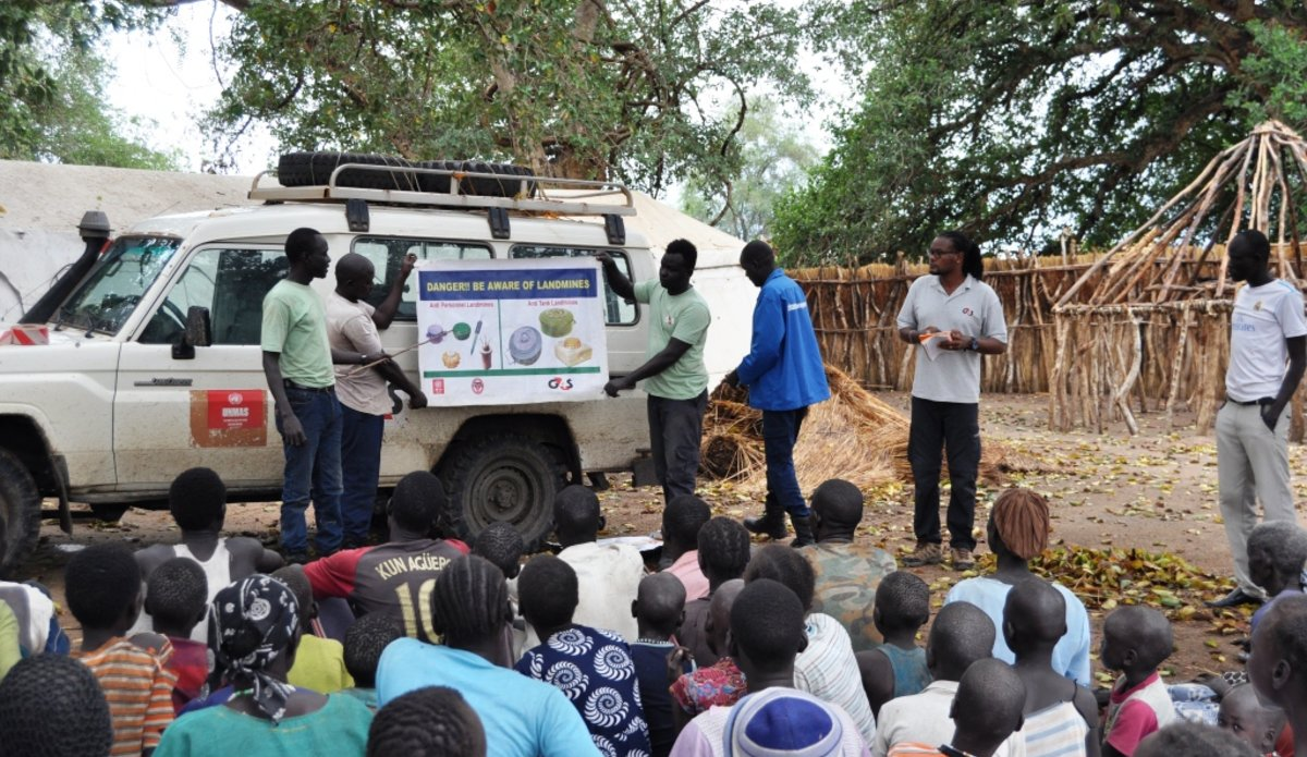 Joint UN effort to clear mines and ammunition keeps communities safe in South Sudan unmiss unmas demining Majak-Joong cattle camp mine awareness