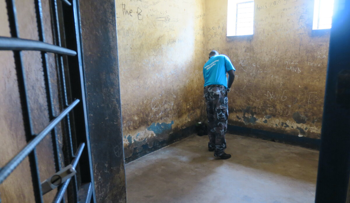 UNMISS protection of civilians detainees human rights prisons hygiene humane treatment peacekeepers South Sudan peacekeeping Aweil