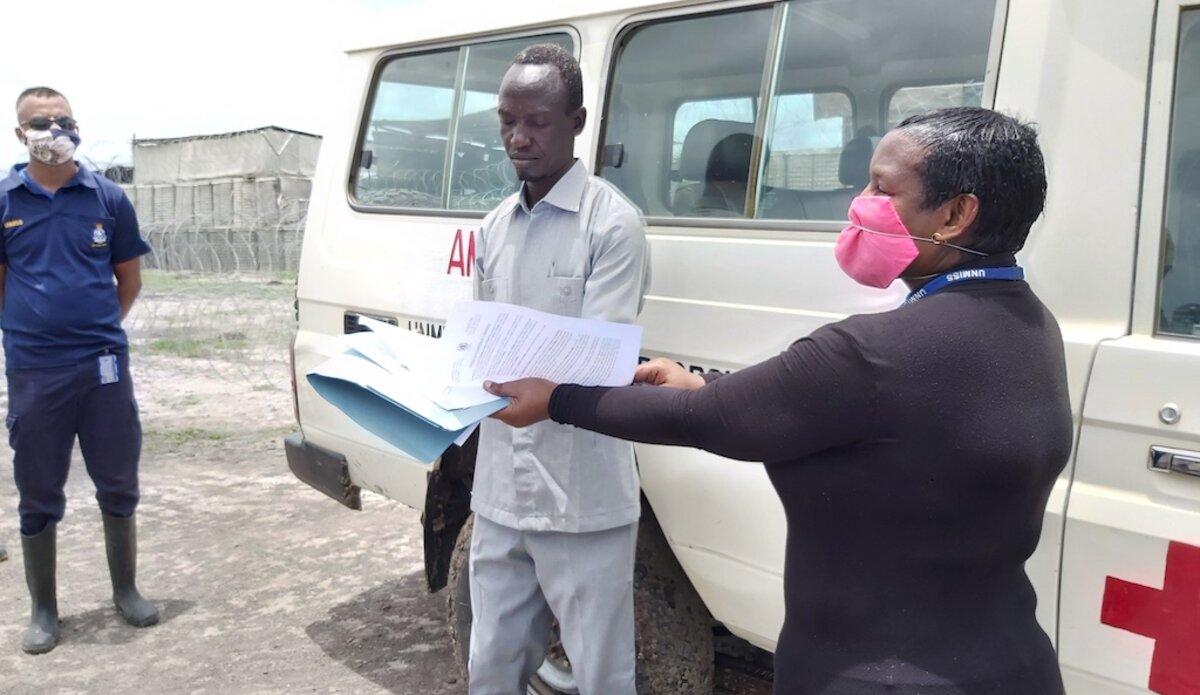 unmiss south sudan kodok fashoda ambulance covid-19 donation awareness face masks