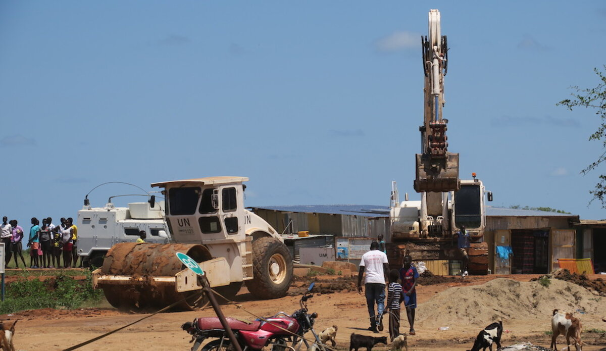 unmiss south sudan bor jonglei road repair