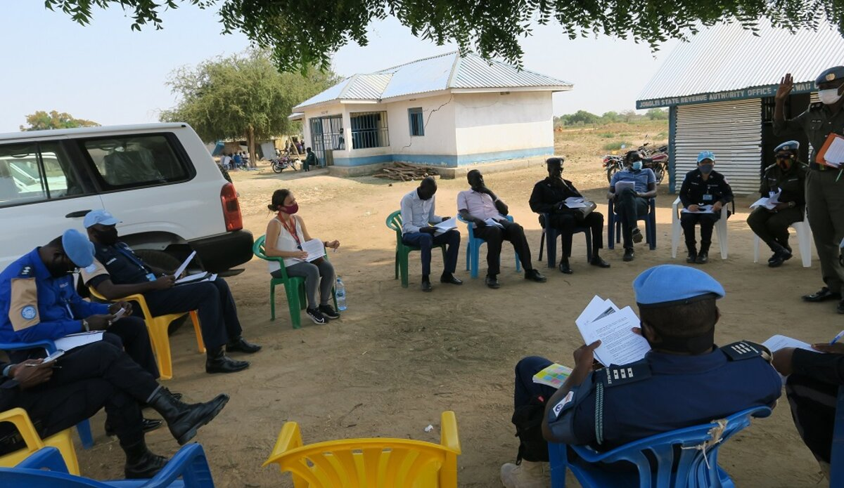 unmiss south sudan policing idp camp bor unpol ssnps joint security coordination centre