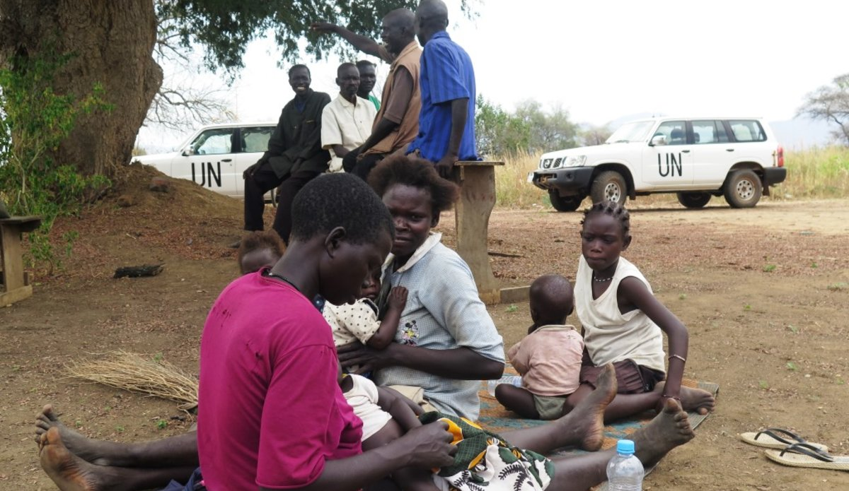 unmiss south sudan eastern equatoria torit motti conflict violence displaced people return home bush school clinic orphanage