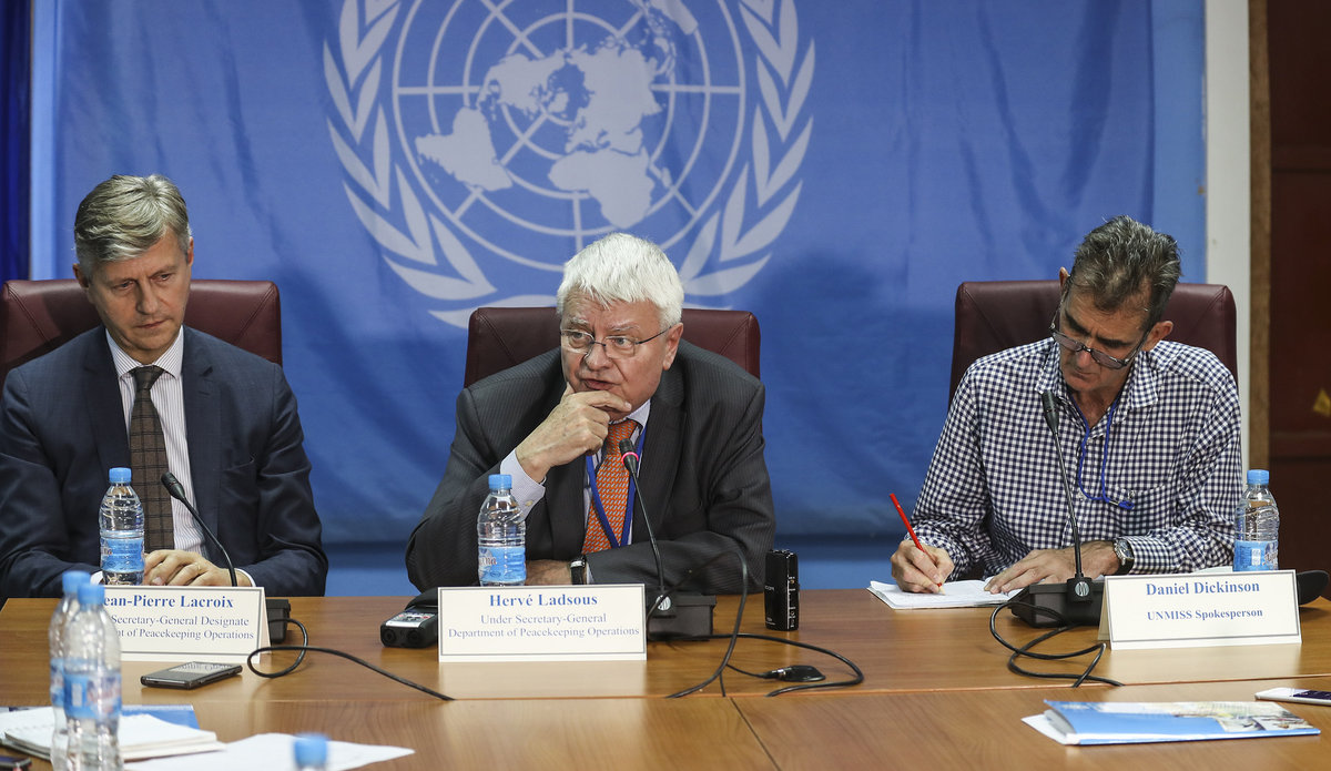Near Verbatim transcript of press conference by USG Hervé Ladsous UNMISS South Sudan 21 March 2017
