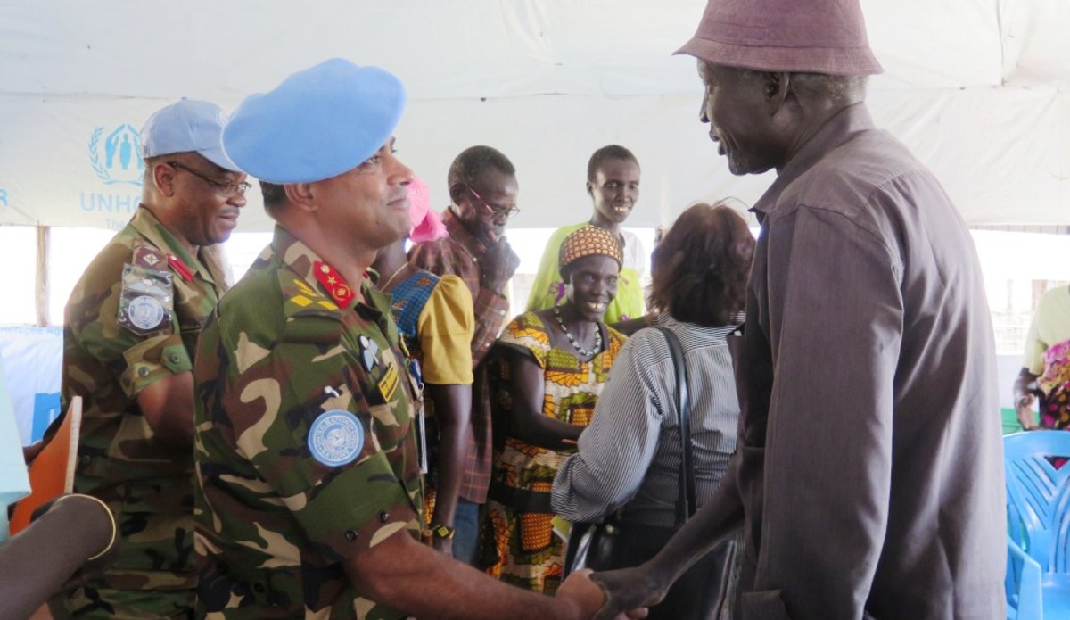 New UNMISS Sector East commander optimistic about durable peace South Sudan December 2017 protection of civilians roads infrastructure