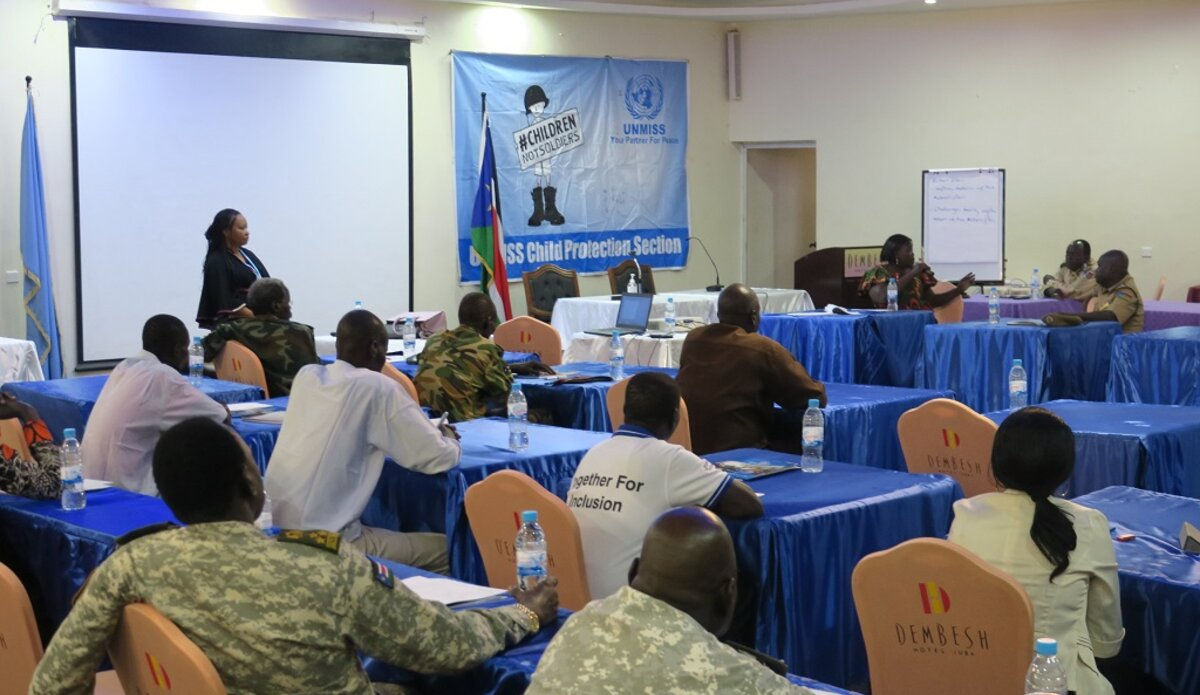 unmiss south sudan juba child protection grave violations armed forces